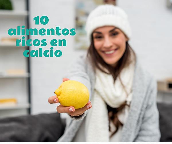 Los 10 alimentos más ricos en calcio