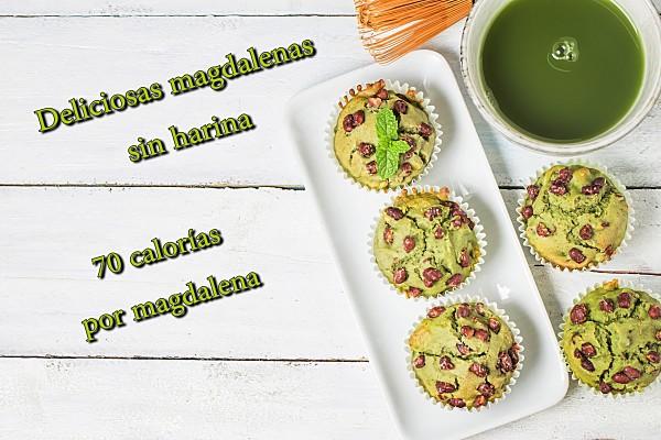 Magdalenas con huevo verduras y sin harina